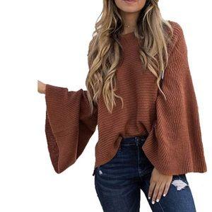 Beautiful woman sweater blouse